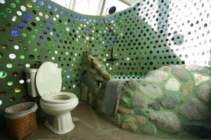 Recycled bottle bathroom